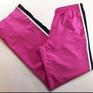 Nike Womens Pink & Black Workout Pants Size Medium